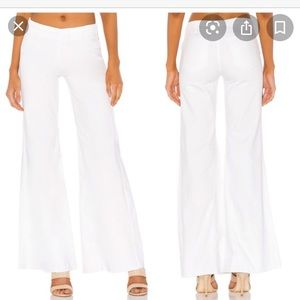 Free people drapey a line white pull on jeans